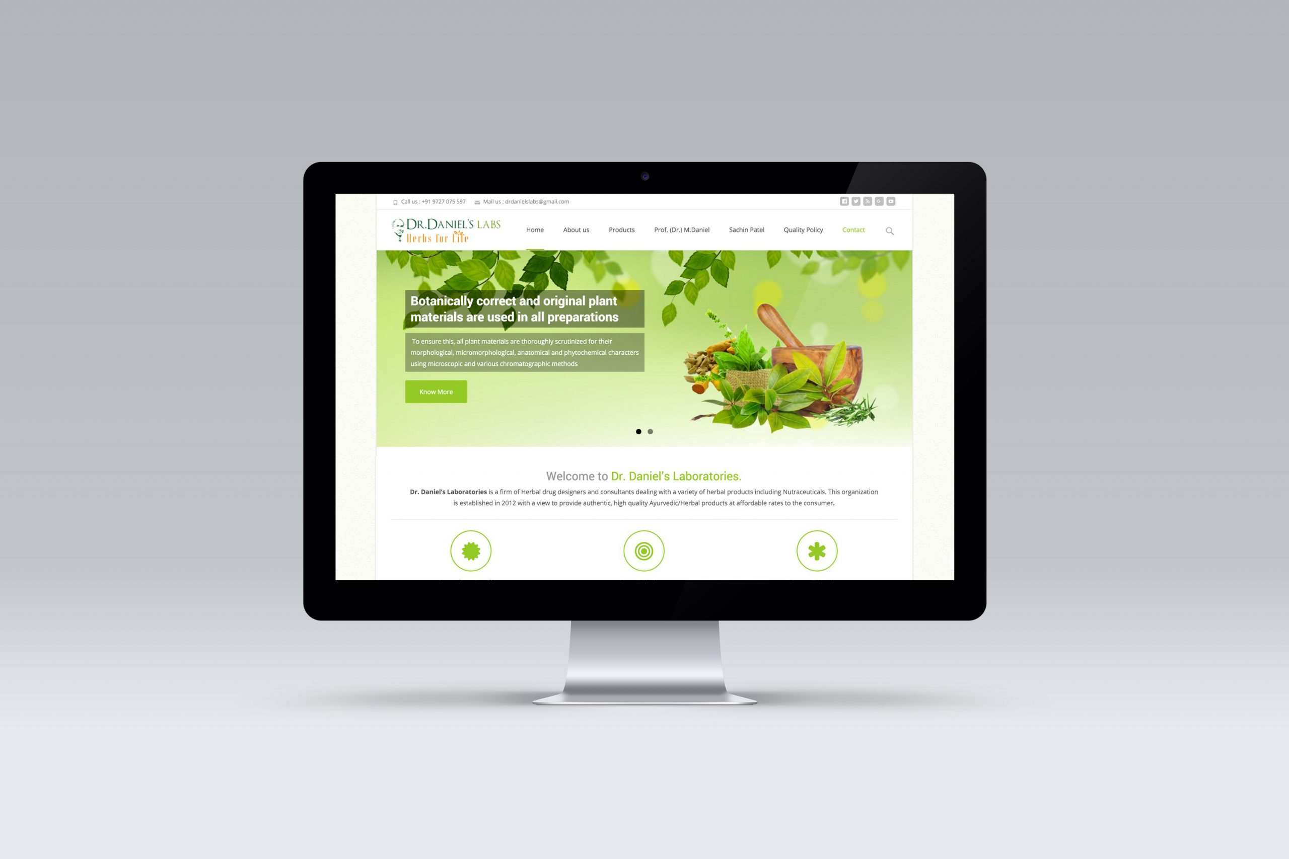 Medical company website